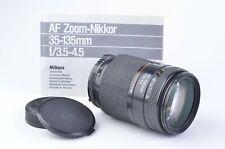 EXC++ NIKON NIKKOR AF 35-135mm f3.5-4.5 MACRO ZOOM LENS, CAPS+MANUAL, VERSATILE