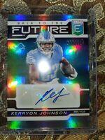 Kerryon Johnson 2020 Panini Elite Back To The Future Auto # /115 Detroit Lions