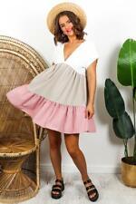 Smock-Up - Dress In BEIGE/BLUSH
