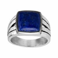 Silpada 'Oxford' Natural Lapis Signet Ring in Sterling Silver