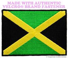 JAMAICA FLAG PATCH RASTAFARIAN RASTA new EMBROIDERED w/ VELCRO® Brand Fastener