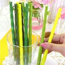 10pcs Bamboo Ballpoint Pens Cute Ball Pen School Supplies Stationery Novelty