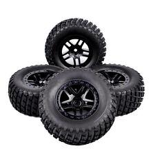 4Pcs RC 1:10 Short Course Truck Tires&Wheel 12mm Hex For TRAXXAS SlASH Car 01&04