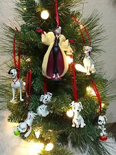 Disney Christmas Ornament 7pc Set 101 Dalmatians PVC