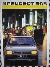 brochure PEUGEOT 505 TURBO i + GTI + GTD + SRD + GL  1986 / français couleurs