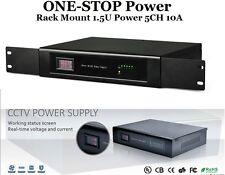 ONE-STOP Rack Mount Power Supply 1.5U DC12V 10A 5 Port UL Listed For CCTV Camera