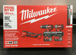 Milwaukee 2892-22CTM M18 2Pc Combo Kit With Multi Tool NEW
