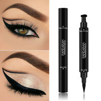 2 In 1 flüssiger Eyeliner Stempel lang anhaltende Eye Liner Pencil Make-up DE