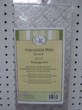 Damask Print Impression Imprint Prints Fondant Mats Clear Pack 4 by CK cake dec