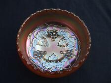 Carnival Glass.Dugan Marigold Golden Grapes Rosebowl.Unusual Pattern.VGC.