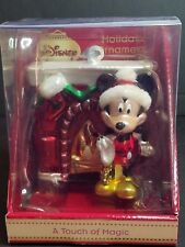 Disney Mickey mouse Fireplace A Touch of Magic Holiday Ornament Christmas Glass