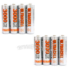 8 pcs AA 2A LR06 HR6 3000mAh 1.2V Ni-MH Rechargeable Battery UltraCell US Stock