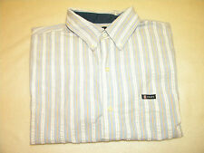 Chaps Mens short sleeve button up Easy Care Shirt Size L