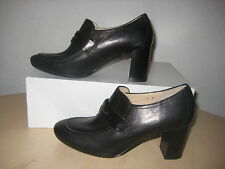 Amalfi Size 8.5 N Narrow KEIRA Black Leather Loafer Heels New Womens Shoes