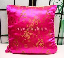 PINK Calligraphy Asian Chinese Oriental Pillow Cushion Cover Case Home Decor #A