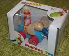 Jouet 1er âge en bois éléphant en boite TOUT NEUF ! Wooden Pushing Toy 2