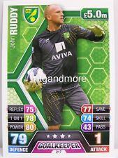 Match Attax 2013/14 Premier League - #217 John Ruddy - Norwich City