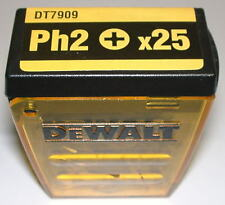 DeWalt original Bitbox mit 25 Bits PH2 Bit PH 2 25mm DT7909 Philips De Walt