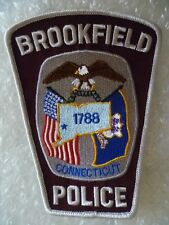 Patch Brookfield Connecticut Police Patch (130 X 100 mm New*)