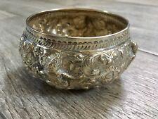 Vintage Sterling Silver Repousse Bowl ~Ramakien ~Thailand Siam