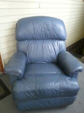 Lazy Boy Leather Rocker Recliner , Blue, Good size and Condition .