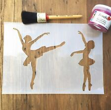 Ballerina Dancing Stencil, Girls Room Stencil, Bedroom Stencil, A4 Re-usable