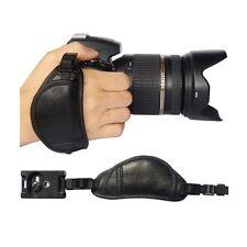 Professional DSLR Camera Wrist Grip black genuine leather hand Strap for SONY