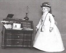 "1860'S 12 1/2"" Walking Dress Pattern For Fashion Antique Doll'S Free Ship 4 Usa"