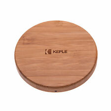 HTC Thunderbold Fast Charge Qi Wireless Charger Bamboo Wood Charging Pad Stand