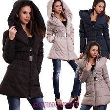Piumino donna giaccone giubbotto cappotto cappuccio imbottito nuovo CC-1048