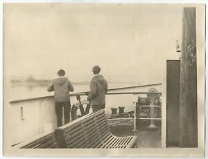 """PHOTOGRAPHS-KYLES OF BUTE. On Fore Deck The MV """"Loch Fyne"""" Looking to The Kyles."""