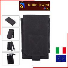 Fondina porta cellulare da esercito, per cintura, taglia L, colore Nero