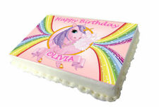 Unicorn Birthday Cake Topper - High Quality Edible Icing