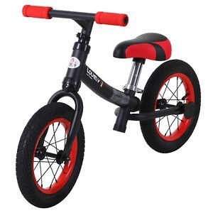 HOMCOM  Bicicletta Senza Pedali Nera e Rossa Altezza Regolabile per Bambini 2-5
