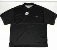 NWT Columbia PFG Omni-Shade Perfect Cast Polo Shirt Size XL Black Vented UPF 30