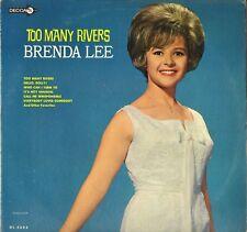 "BRENDA LEE ""TOO MANY RIVERS"" 60'S LP DECCA DL 4684"