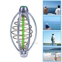 2Pcs Spring+Lead Fishing Thrower Carp Fishing Lures Rubber Fishing Bait Cage New