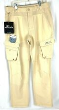 Grundens Men's Outdoor Breakwater UPF 50 Sandstone Fishing Pants Sz 32R (32X31)