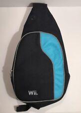 Nintendo Wii Blue & Black Sling Bag Back Pack 1 Strap Shoulder Bag Excellent Con