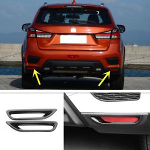 For Mitsubishi Outlander Sport 2020-2021 Carbon Fiber Rear Fog Light Lamp Cover