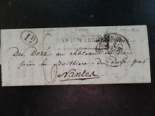 1835 Jersey to Nantes Boxed Pays D'Outremer and St Malo datestamp 1d to pay