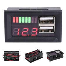 12v Digital Display Car Voltmeter Dual Usb Charger Meter Voltage Battery Panel