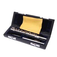 Durable Piccolo Ottavino Half-size Flute Silver Plated C Key + Padded Box