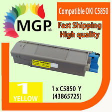 1x Yellow Compatible Toner cartridge for OKI C5850 C5950 MC560 Color Printer