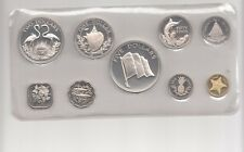 Bahamas 9 Werte Proof Set 1975 Franklin Mint Nr. 2/30/15/254