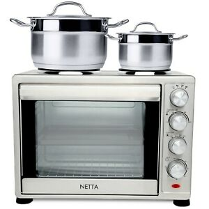 1500W 35L Electric Mini Oven With Hob Hotplate With Timer Grade B Used