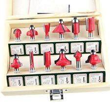 133025 12pcs Wood Working Router Bit Set for Electric Router Trimmer