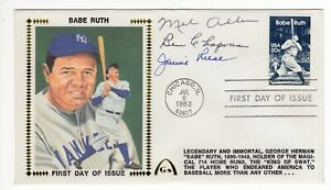 Babe Ruth Tribute by Mel Allen, Ben Chapman, Jimmie Reese - Autographed FDC