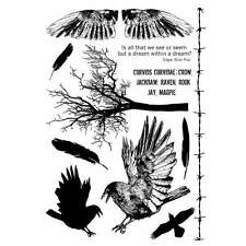 Crafty Individuals THE CROW ELEMENTS Unmounted Red Rubber Stamps