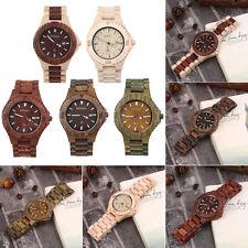 Bewell W023B Round Shaped Men Wood Calendar Quartz Wrist Wristwatch Gift HY